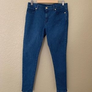 Michael  Kors Polka Dot  Skinny Blue Jeans